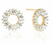 Ohrringe Antella Circolo Earrings White Zirconia 18K Gold Plated