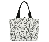 Is4 Large Reversible Tote Iconic CK Print weiß