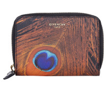 Kleinleder - Iconic Print Coin Purse Peacock Brown/Orange