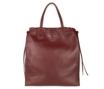 Vertical Coulisse Shoulder Bag Medium Light Burgundy/Brick Hobo