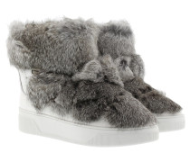 Boots & Booties - Nala Ankle Boot Genuine Rabbit Fur Optic White