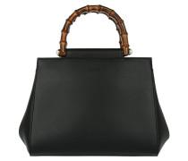 Nymphaea Satchel Bag Black