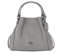 Tote Polished Pebble Leather Edie 28 Shoulder Bag Heather Grey