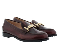 Double T Mocassino Gomma Loafers Russet Schuhe rot