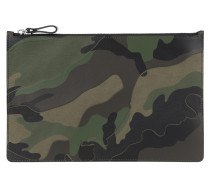 Camouflage Card Holer Army Green Clutch