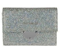 Glitter Wallet Flap Silver/Silver silber