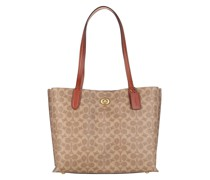 Tote Coated Canvas Signature Willow Tan Rust