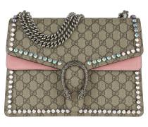 Dionysus GG Supreme Shoulder Bag Medium Crystals /Pink