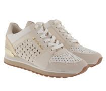 Billie Trainer Ecru/Pale Gold Sneakerss gold