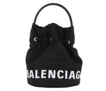 Beuteltasche Wheel Drawstring Bag Black