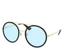 Sonnenbrille GG0061S-009 56 Sunglass WOMAN METAL GOLD