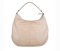 Tasche - Aja Hobo Bag Small Croco Soft Offwhite