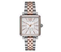 Vic Ladies Watch Brushed Rosegold/Silver Armbanduhr rosa