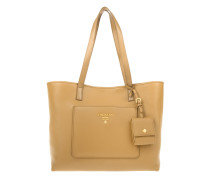Tasche - Shopping Bag Vitello Daino Caramel - in cognac
