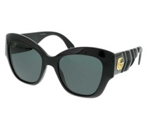 Sonnenbrille GG0808S-001 53 Sunglass WOMAN INJECTION Black