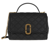 Satchel Bag The Status Top Handle Leather Black