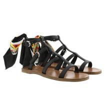 Sandalen Sandals Saffiano Leather Black