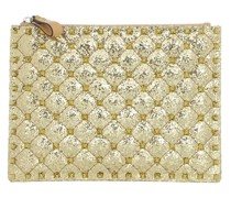 Clutch Medium Flat Pouch Dark Gold