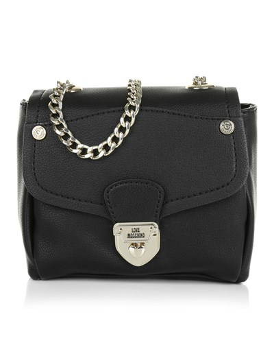 moschino damen love moschino tasche borsa small grain pu nero in schwarz  umh ngetasche f r c0c72b5cd6b