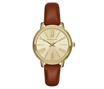 Armbanduhr - Hartman Watch Gold-Tone Leather Brown
