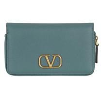 Portemonnaie Zip Around Wallet Leather Blue