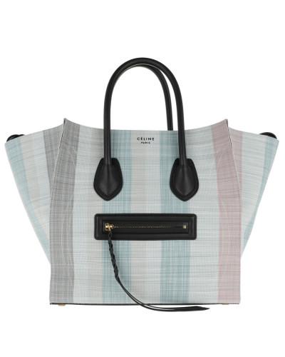 Phantom Micro Luggage Bag Leather Blu Tote