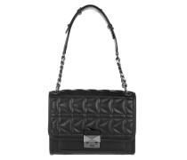 K/Kuilted Handbag Blk/Gn Mtl Umhängetasche