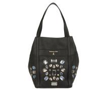 Borsa Bowling Bag Black Crystal Hobo schwarz