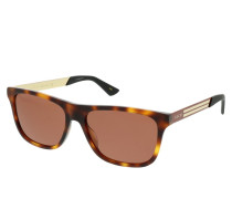 Sonnenbrille GG0687S-004 57 Sunglasses Havana-Red-Brown