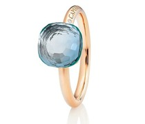 Ring Happy Holi Topas Sky Blue Cabochon