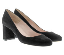 Pumps - Suede Block Pumps Black