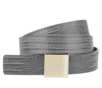 Kleinleder - Bell-L Leather Belt Charcoal