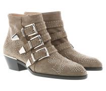 Susanna Boots Suede Foggy Khaki Schuhe