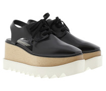 Elyse Cut Out Plateau Sandale Black Sneakers