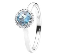 Ring Espressivo Topas Sky Blue Faceted