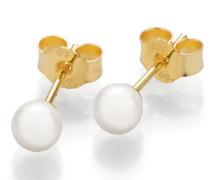 Ohrringe Stud Earrings Cultured Akoya Pearl 4,5 Gold