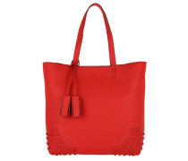 Satchel Wave New Tote Soft Gommini Red