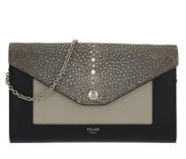 Large Flap On Chain Clutch Smoke grau