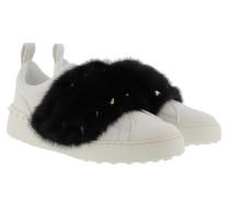 Sneakers Mink Fur White/Black Sneakers