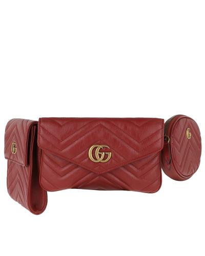 Gürteltasche GG Marmont Multi Belt Bag Ceris rot