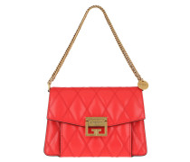 Satchel Bag Small GV3 Diamond Quilted Leather Red