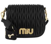 Miu Logo Matelassé Umhängetasche Bag Nero