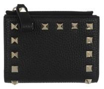 Portemonnaie Compact Rockstud Zip Around Wallet Black