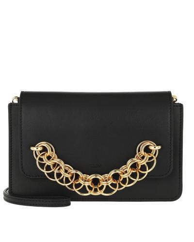 Drew Bijou Clutch Leather Black Tasche