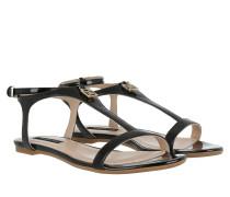 Flat Patent Sandal Nero Sandalen schwarz