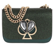 Umhängetasche Nicola Glitter Twistlock Small Chain Shoulder Bag Deep Evergreen