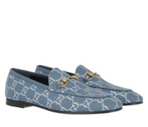 Schuhe Jordaan Loafer GG Lamé Blue Denim
