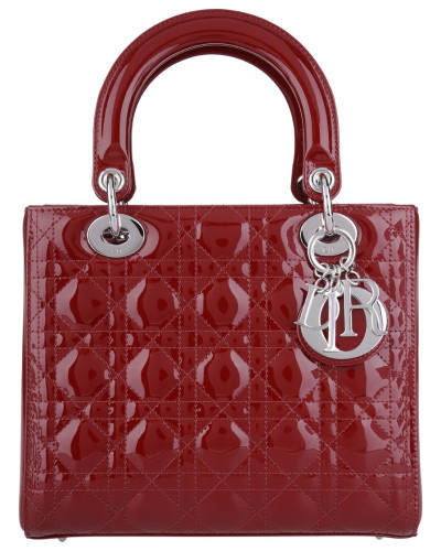dior damen christian dior tasche lady dior medium tote dark brick in rot henkeltasche f r. Black Bedroom Furniture Sets. Home Design Ideas