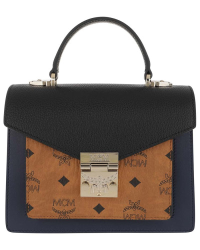 Umhängetasche Patricia Satchel Small Cognac & Navy Blue