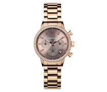 Uhr Ladies Chronograph Watch Sunray Rose Gold